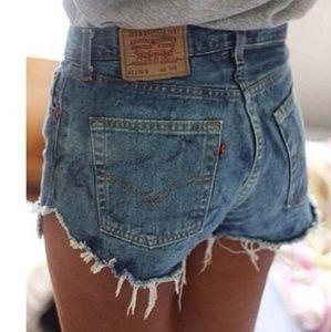 Vintage Levis grunge high waist 512 cut off shorts